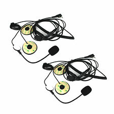 2Pcs2Pin PTT Motorcycle Helmet Headset Microphone for BAOFENG Retevis WOUXUN TYT