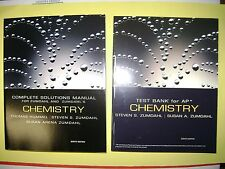 TEST BANK & COMPLETE SOLUTIONS MANUAL FOR ZUMDAHL'S CHEMISTRY 8E