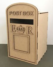Y55 LARGE Wedding Post Box Message Note Unpainted MDF Table Display Stand