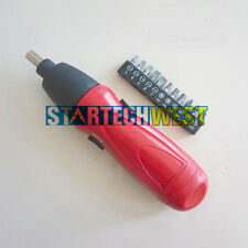 Portable Cordless Battery Power Screwdriver +11x Slot PH Torx screwdriver Bits