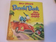 1953 Donald Duck Full Speed Ahead Walt Disney Book Whitman Tell-A-Tale