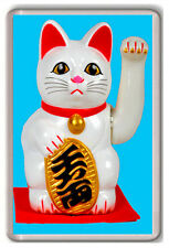 MANEKI NEKO LUCKY CAT FRIDGE MAGNET NEW GOOD LUCK IMÁN NEVERA