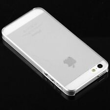 (2) .8mm Ultra Thin Glossy Clear Crystal Hard Cases Covers iPhone 5 5S US Seller