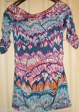 NEXT Gorgeous MULTI COLOURS Pattern TUNIC TOP Size 14 (NEW WITH TAGS)