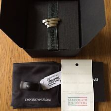 Mens Emporio Armani Stainless Steel and Resin Size U Ring EGS2018001512