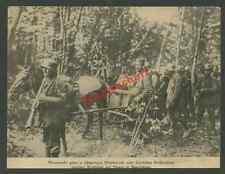 Bufa Landser Minenwerfer Stahlhelm Pferdegespann Westfront Montdidier Noyon 1917