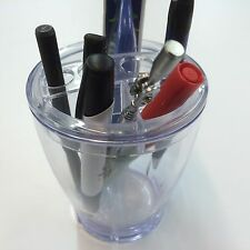 3 Acrylic Clear Cups For Lipstick, Toothbtush, Pincels, Cosmetic Organizer