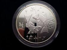 """Ukraine 5 Hryven """"Fish (Zodiac sign)"""" Silver Coin ,2007 year"""