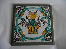 dessous de plat carreau faience de Nevers ? Delft ? Desvres ? faience de l'Est ?