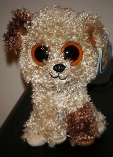 """Ty Beanie Boos ~ ROOTBEER the 6"""" Dog (Solid Eyes & Purple Tag) ~ MWMT'S ~RETIRED"""