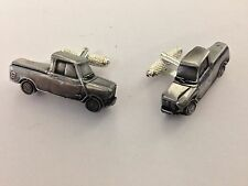 Mini Pick Up 3D cufflinks classic car pewter effect cufflinks ref147