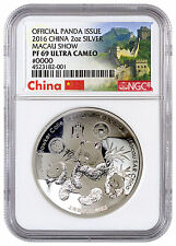 2016 China 2oz Silver Panda Official Issue Macau Money Show NGC PF69 UC SKU45155