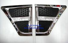 FOR ALL NEW ISUZU D-MAX 2012 TRUCK FOR NEW CHROME BLACK SIDE VENT CORNER DOOR