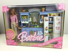 Barbie Play All Day Kitchen Gift Set - includes doll - 2006 rare NEW