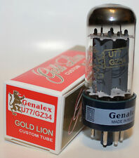 Genalex Gold Lion U77 / GZ34 rectifier tubes, brand NEW, Reissue !!!