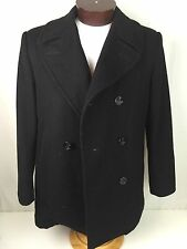 DSCP Enlisted Quarterdeck Collection Wool Navy Issue Black Peacoat 40R Overcoat