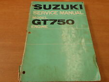 Genuine OEM Suzuki 1972 GT750 Engine Service Manual SR-3100