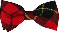 Wallace Tartan Pre-tied Bow Tie 100% Wool - Made in Scotland