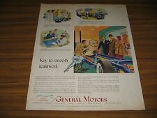 1950 Print Ad GM General Motors Research,Engineers,Production,Sales