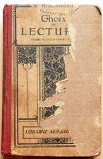1922 - CHOIX letture scuole elementari - in francese