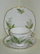 ROYAL VALE ENGLISH BONE CHINA CUP SAUCER PLATE TRIO LILY OF THE VALLEY PATT 7767