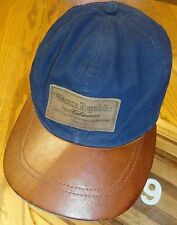 VINTAGE NWT BANANA REPUBLIC LEATHER BILL LEATHER PATCH HAT MADE IN THE USA
