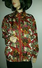 VINTAGE EVR ROUSSO APPAREL ALL SILK EQUESTRIAN HORSE BOMBER JACKET COAT M LADIES