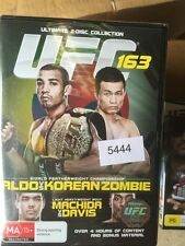 2 Disc Collection - UFC 163 - Aldo VS Korean Zombie BRAND NEW #5444