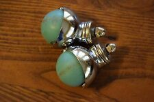 Vintage Mid-Century Turquoise Roller Ball Casters Wheels Replacement Parts