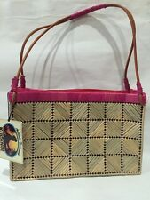 KULANUI of Hawaii Purse Woven Straw Beach Pool Cruise Ship Bag Tote Fushia New