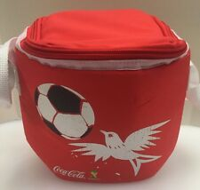 Coca Cola 2014 FIFA World Cup Brasil Brazil Insulated Cooler Lunch Tote Bag Used