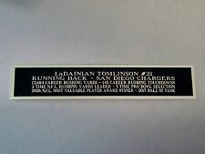 LaDainian Tomlinson Chargers Nameplate For A Football Jersey Case 1.25 X 6