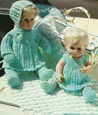VINTAGE KNITTING PATTERN FOR BABY DOLL CLOTHES & PRAM COVER / BLANKET