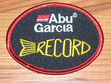 ABU GARCIA RECORD FISHING LURE PATCH  ( PUT ON HAT VEST CAP )