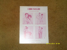 Chee Chee & Peppy sheet music I Know I'm in Love '71 4 pages (NM shape)