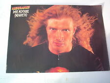 MEGADETH Dave Mustaine with flying hair Centerfold magazine POSTER  17x11 inches