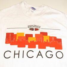 New CHICAGO TROLLEY & DOUBLE DECKER BUS TEE T SHIRT Sz Mens S