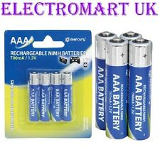 AAA RECHARGEABLE Ni-MH 700 MAH BATTERY BATTERIES X 4