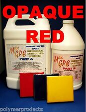 EPOXY RESIN RED GEL COAT REPAIR  MARINE CRAFT FIBERGLASSING CASTING 1.5 Gal KIT