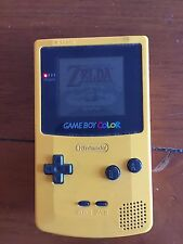 Nintendo GAME BOY Color Console Yellow Gameboy Tested Working