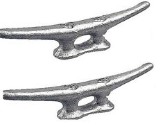 "MARINE DOCK CLEAT 6"" GALVANIZED OPEN BASE BOAT 2 PACK"