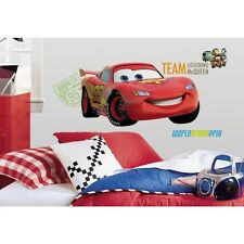 "39"" Disney Cars 2 Giant LIGHTNING MCQUEEN Wall Decals Stickers Mural Room Decor"