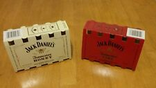 Lot of Two Empty Jack Daniels Honey and Jack Tennessee Fire 50ml bottle sleves.