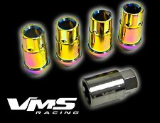 16PC VMS CHEVY CORVETTE C4 C5 C6 12X1.5MM ALUMINUM LOCK LUG NUTS NEO CHROME
