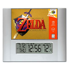 The Legend Of Zelda N64 Box Art Digital Wall Desk Clock with temperature + alarm