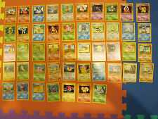 Pokemon Base Set Complete Common and Uncommon Set No Trainers 23/102 - 69/102 NM