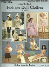 CROCHETED FASHION DOLL CLOTHES BOOK 2 LEISURE ARTS LEAFLET 437 BARBIE PATTERNS