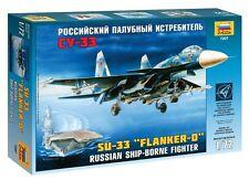 """ZVEZDA 7207 RUSSIAN SHIP-BORNE FIGHTER SU-33 """"FLANKER-D""""  SCALE MODEL KIT 1/72"""