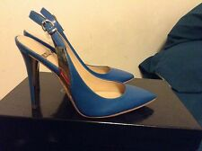 guess by marciano Alan Slingback pump Blue Leather Women's Size 8 On Sale