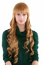 Blonde Wig with Fringe and slight Spiral curls strawberry 3250-27 ca. 65 cm